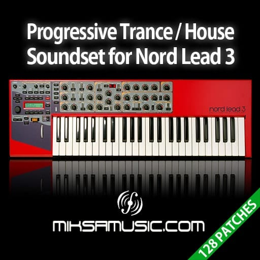 Cover of  Progressive Trance / House Soundset for Nord Lead 3 (Soundbank of 128 patches)