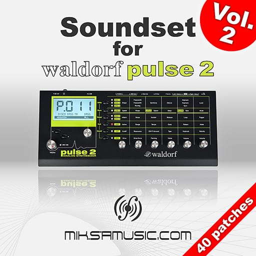 Cover of  Soundset for Waldorf Pulse 2 - Vol. 2 (Soundbank of 40 patches)