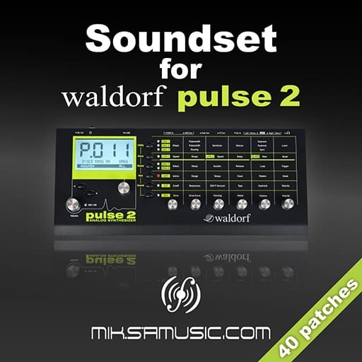 Cover of  Soundset for Waldorf Pulse 2 (Soundbank of 40 patches)
