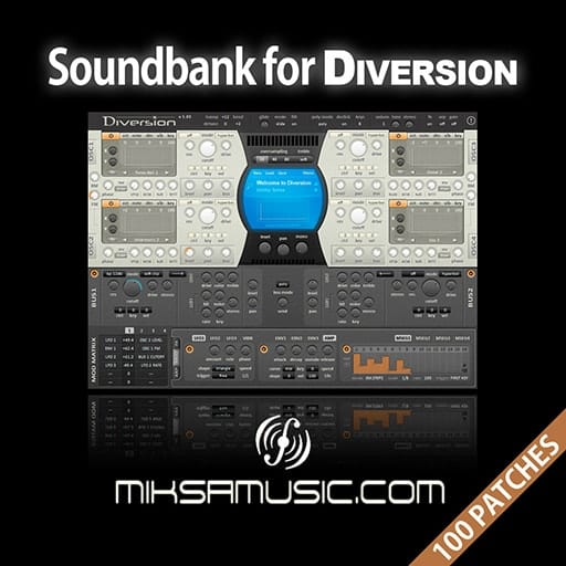 Cover of  Soundbank for Diversion (Soundset of 100 patches)