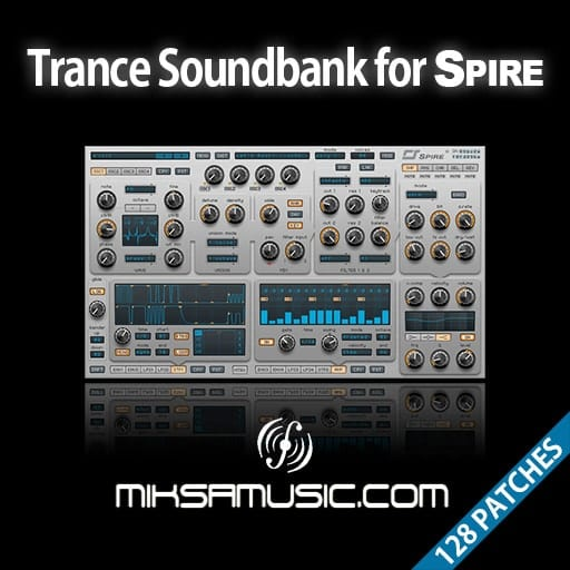 Cover of  Trance Soundbank for Reveal Sound's Spire (Soundset of 128 patches)