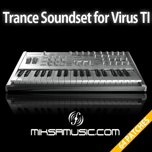 Cover of  Trance Soundset for Access Virus TI / TI2 (Soundbank of 64 patches)